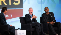 ESPN's Mike Greenberg with President Bill Clinton and Kobe Bryant.